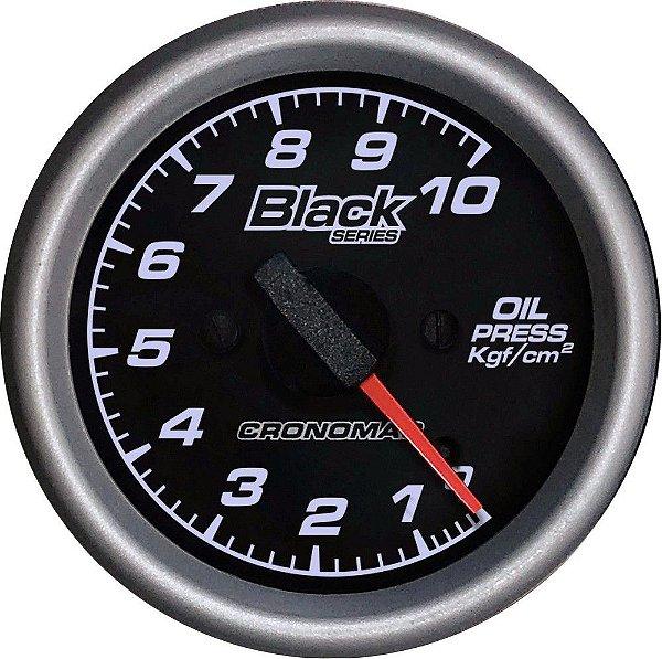 Manômetro Óleo 10KGF/CM² ø60mm Black Series   Cronomac