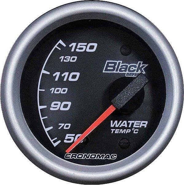 Termômetro Água ø60mm 12V com Sensor Black Series| Cronomac