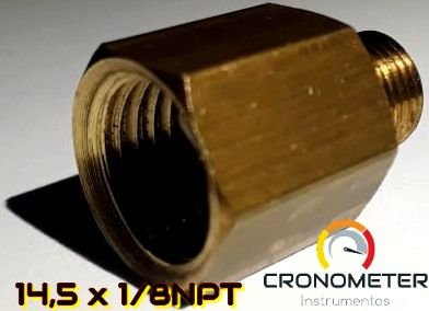 Adaptador Fêmea 14x1,5 p/ Macho 1/8npt para sensor de 5kgf