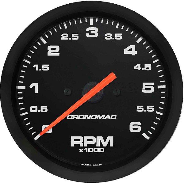 Contagiro 6000RPM ø85mm Diesel Ajuste Street/Preto  Cronomac