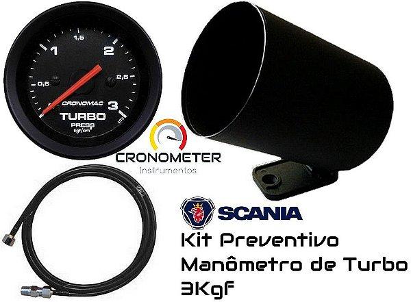 Kit  Preventivo Turbo 3KGF/CM² ø60mm + Mangueira + Copo Plástico - Street/Preto | Cronomac