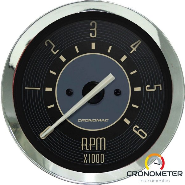 Contagiro 6000RPM ø100mm 2/4/6/8 Cil Fusca Bege | Cronomac