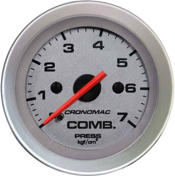 Manômetro Combustível 7KGF/CM² ø52mm Racing| Cronomac