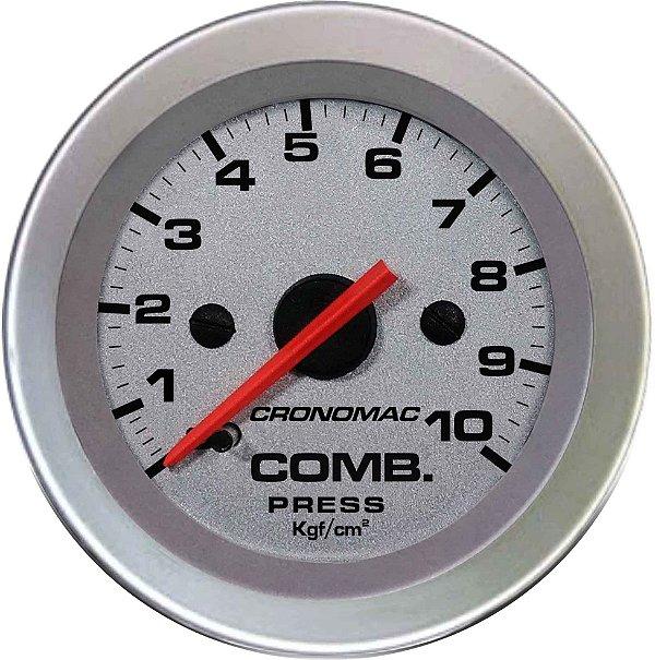 Manômetro Combustível 10KGF/CM² ø52mm Racing  Cronomac