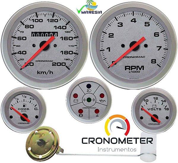 KIT 5 Instrumentos ø100mm/52mm Buggy Racing STD | Cronomac
