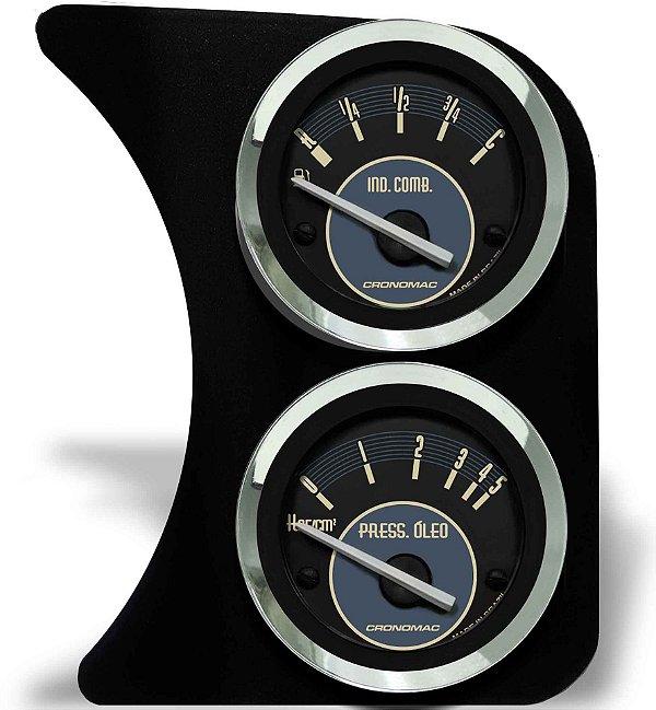 Painel Fusca L.D. Nível de Combustível e Manômetro do Óleo - Bege | Cronomac