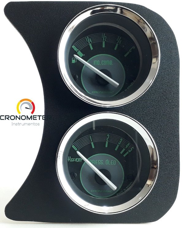 Painel Fusca L.D. Nível de Combustível e Manômetro do Óleo - Verde | Cronomac