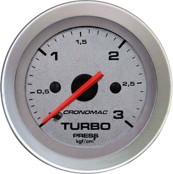Manômetro Turbo 3KGF/CM² ø52mm Racing   Cronomac