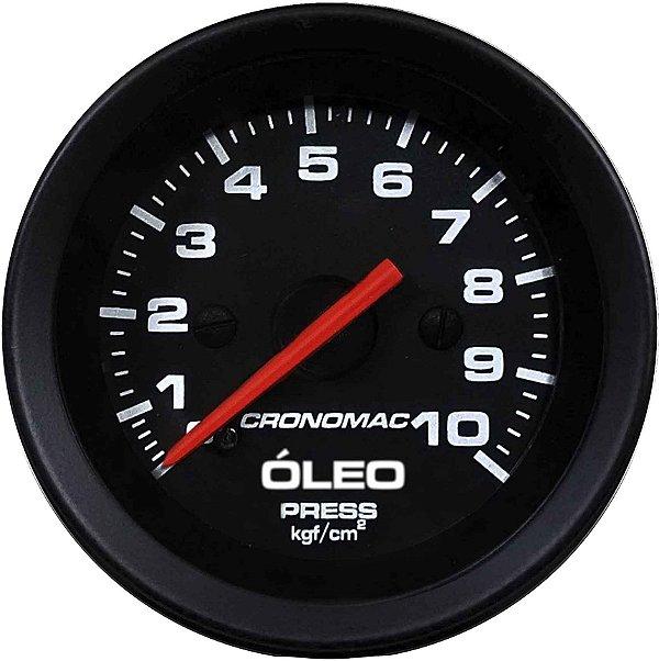 Manômetro Óleo 10KGF/CM² Mecânico ø60mm Street/Preto | Cronomac