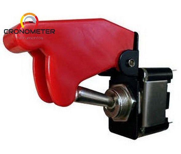 Botão Caça Chave Tic-Tac com Capa Vermelha 350W 2 Posições On/Off |DNI2083