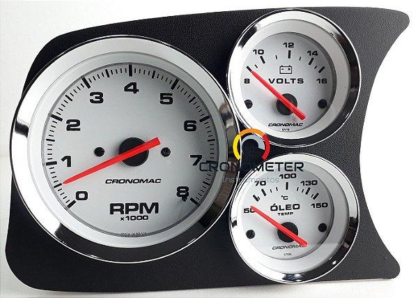 Painel Fusca L.E. Contagiro/Termômetro do Óleo/Voltímetro - Branco| Cronomac