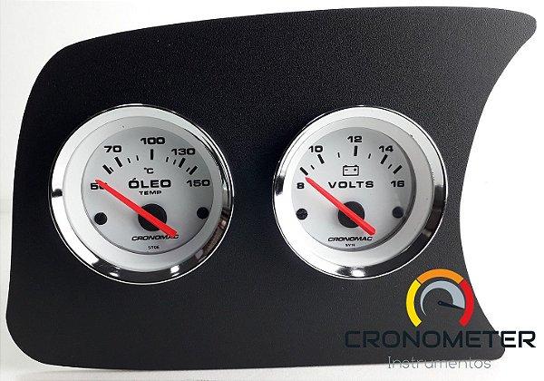 Painel Fusca L.E. Termômetro do Óleo/Voltímetro - Branco  Cronomac