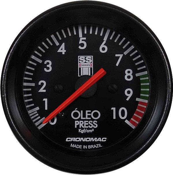 Manômetro Óleo 10KGF/CM² Mecânico ø60mm Opala SS Series   Cronomac