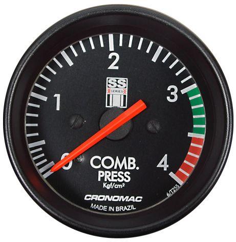 Manômetro Combustível 4KGF/CM² Mecânico ø60mm Opala SS Series | Cronomac