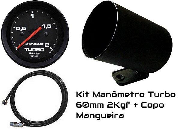 Kit Turbo 2kgf 60mm com mangueira e copo| Cronomac