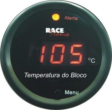 Medidor Temperatura da Água Digital 52mm Display Vermelho COM Sensor para Bloco TB10