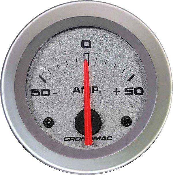 Amperímetro ø52mm 50A Racing   Cronomac