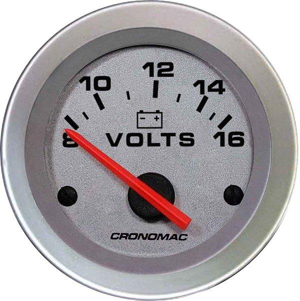 Voltímetro ø52mm 12 Volts Racing | Cronomac