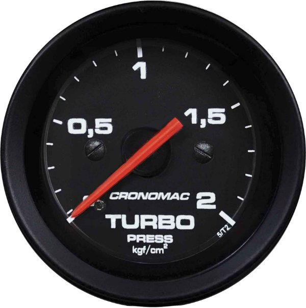 Manômetro Turbo 2KGF/CM² ø60mm Street/Preto | Cronomac