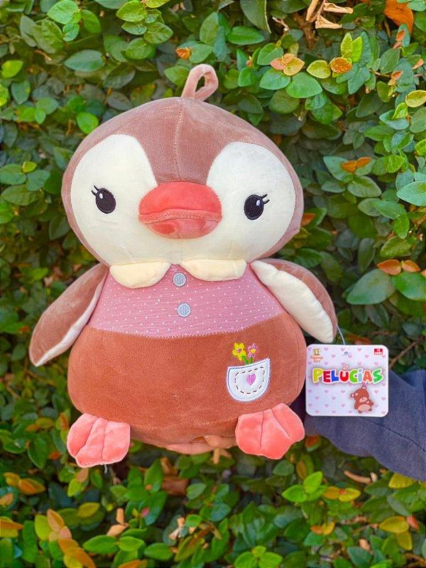 Pinguim Lolla Marrom  32X26cm