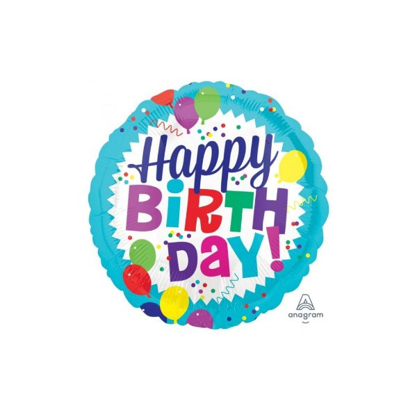 Balão Hppy Birthday! Azul