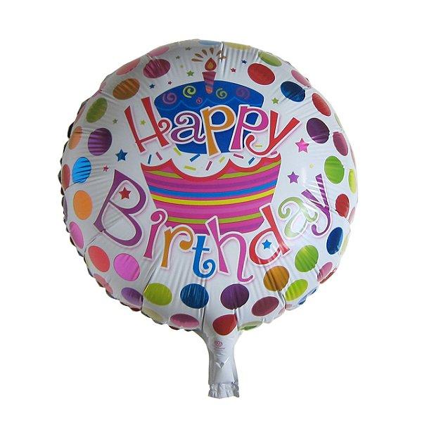 Balão Happy Birthday Colorido