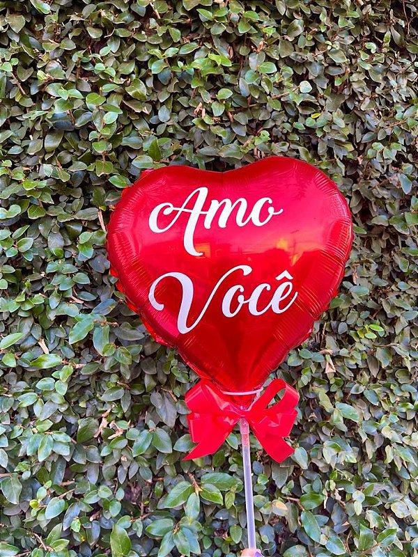 """Balão Coração """"Amo Você"""""""