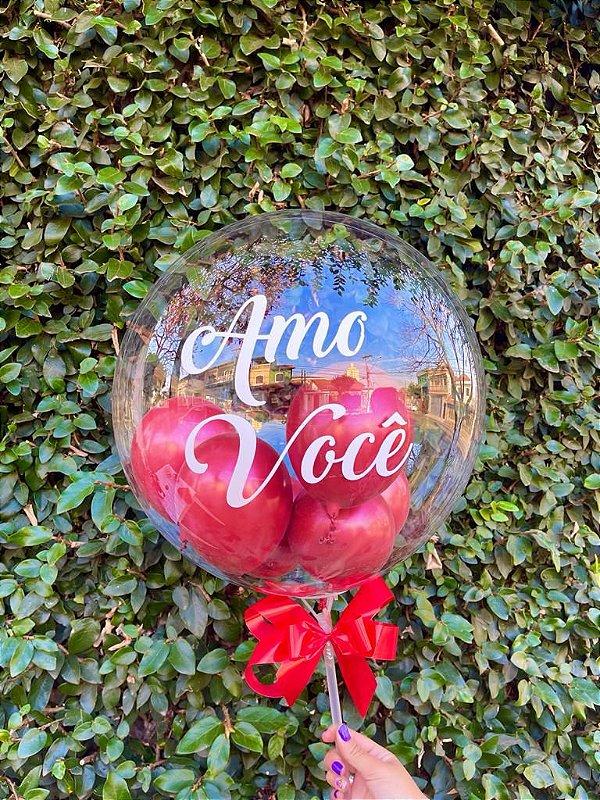"""Balão Bubble """"Amo Você"""""""