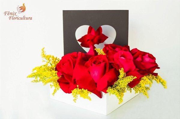 Coração Repleto de Rosas