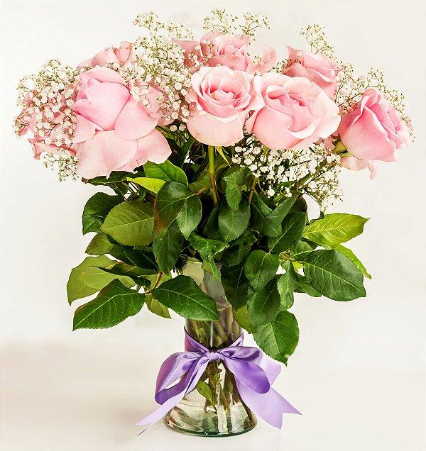 Elegante de Arranjo de Rosas Importadas