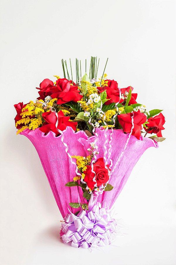 Esplêndido de Rosas Vermelhas Colombianas
