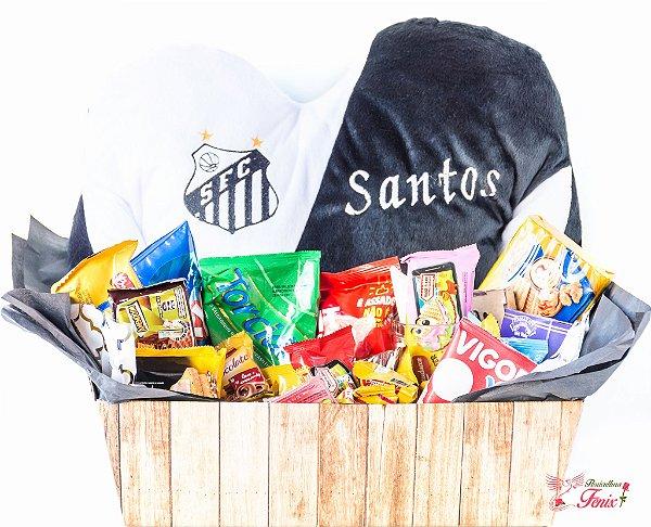 Cesta de café da manhã de time Santos