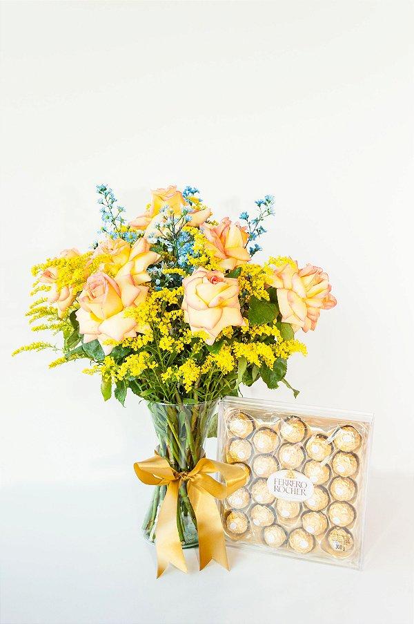 Brilhante de Rosas Ambience com Ferrero Rocher