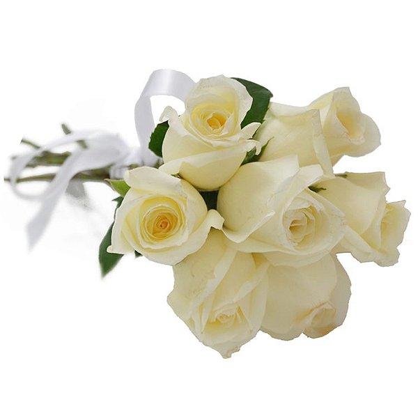 Buquê de 6 Rosas Brancas