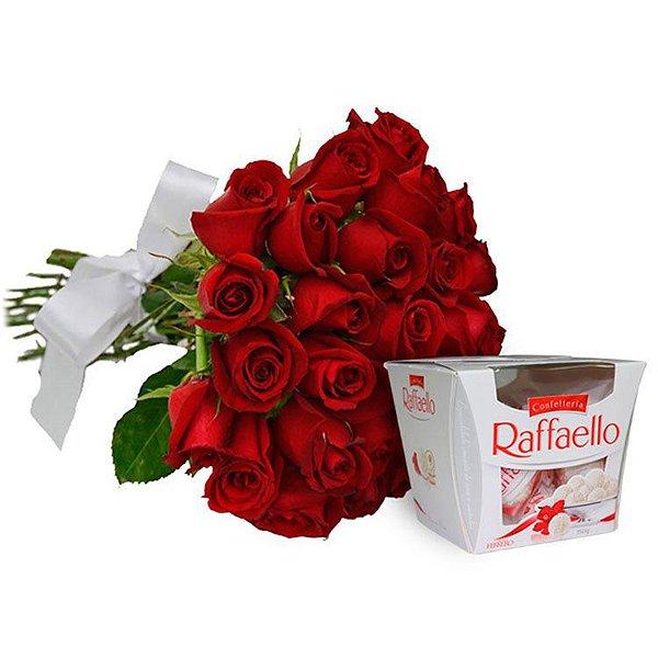 Buquê de 24 Rosas Vermelhas Nacionais.
