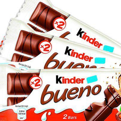 Chocolate Kinder Bueno Com 3 Unidades