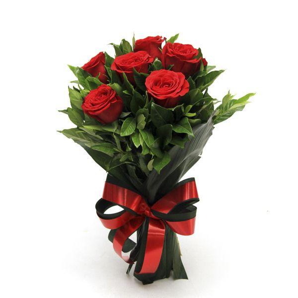 Buquê de Rosas Premium - 6 unidades