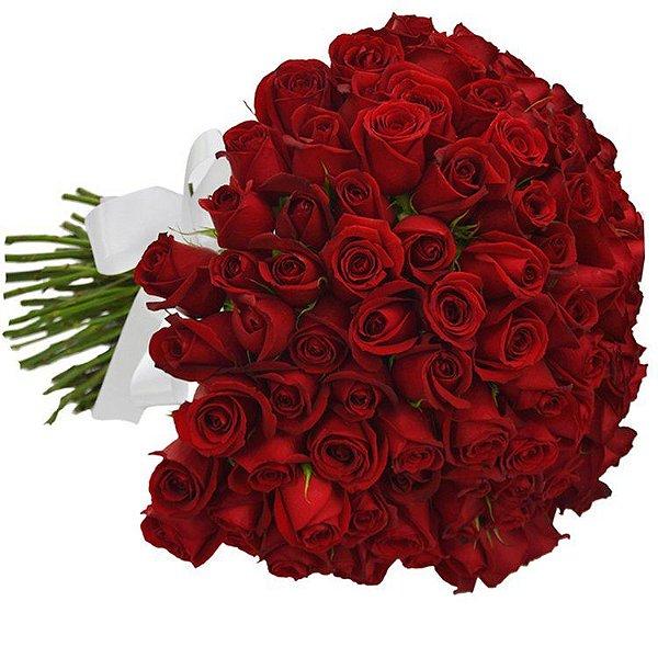 Buquê de 100 Rosas Vermelhas Nacionais
