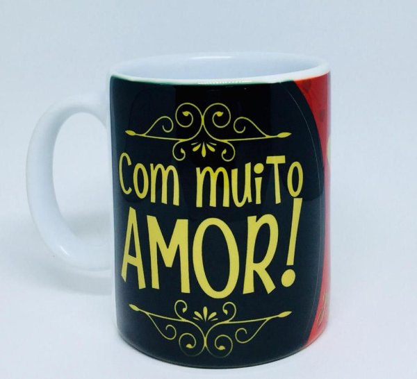 Caneca '' Com Muito Amor''