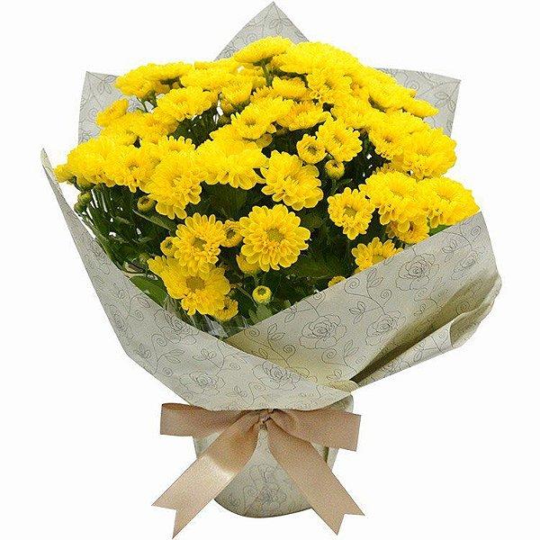 Mini Vaso de Margaridinhas Amarelas