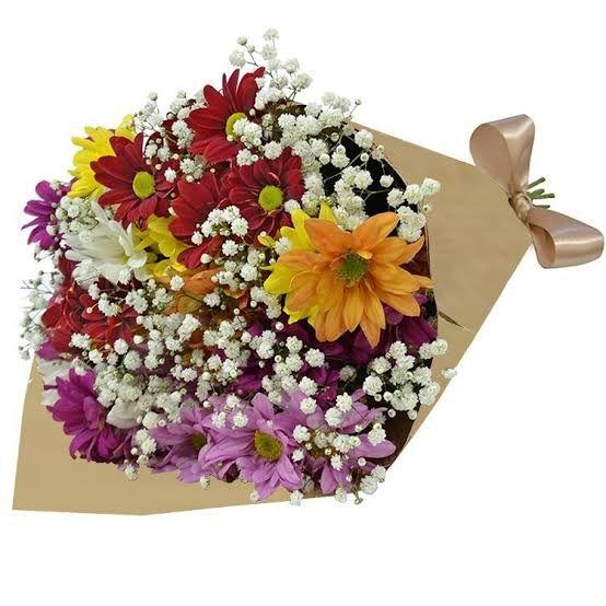 Buquê mix de flores silvestres no papel Crafit