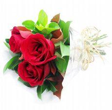 Buquê trio de Rosas Vermelhas