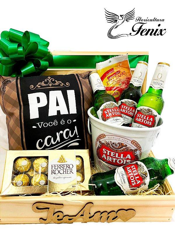 """Baú """"Pai Você é o Cara"""" com Stella Artois e Ferrero Rocher"""