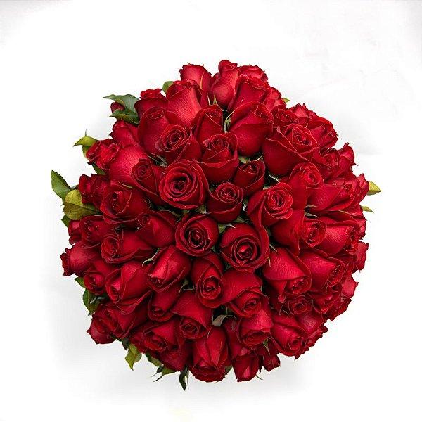 Mega Buquê com 50 Rosas Vermelhas