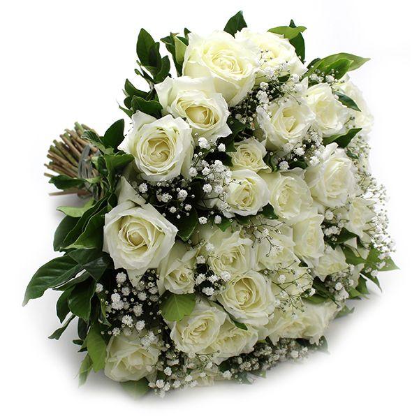Buquê 20 Rosas Brancas