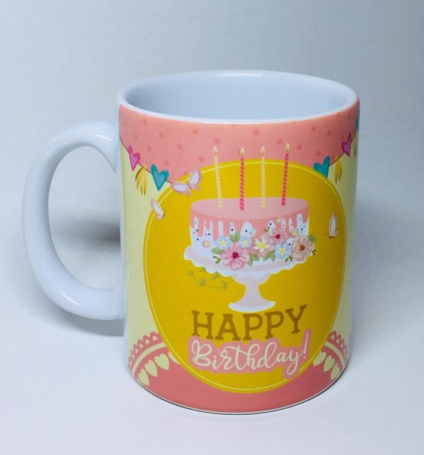 "Caneca ""Happy Birthday!"""