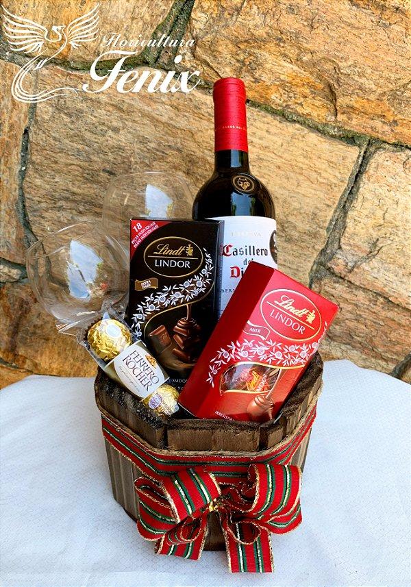 Kit Vinho e Delicias Sofisticadas