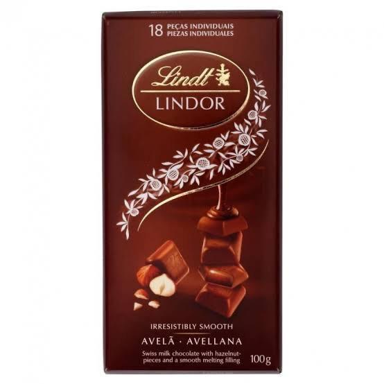 Chocolate Lindt Lindor Avelã 100g