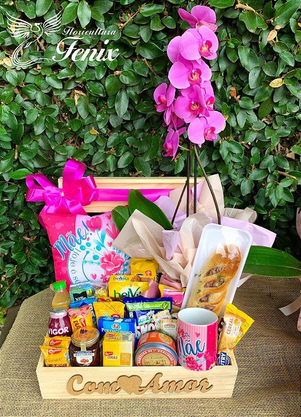 Café Luxo para Mãe com Orquídea