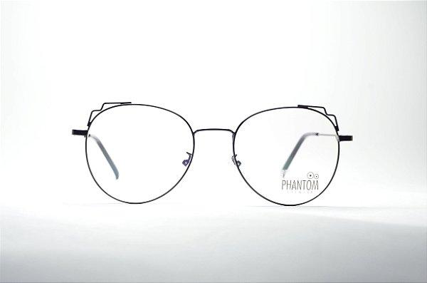 Óculos feminino grande preto metal redondo fino estiloso na moda ... 94904d5c0d